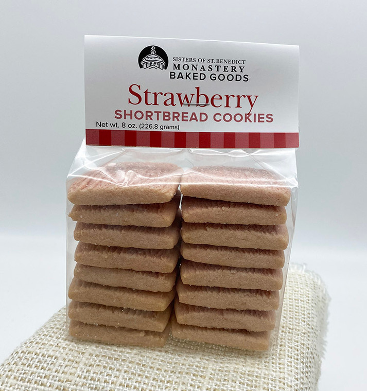 Strawberry Shortbread Cookies (8-oz package)