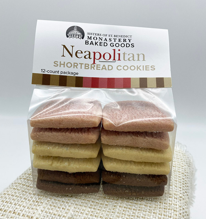 Neapolitan Shortbread Cookies (12-ct package)