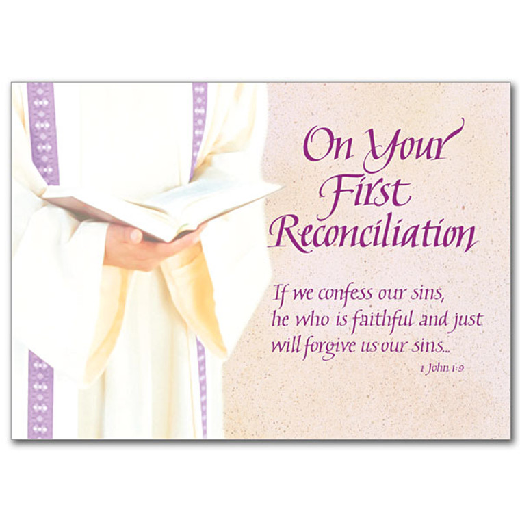 On Your First Reconciliation, Card
