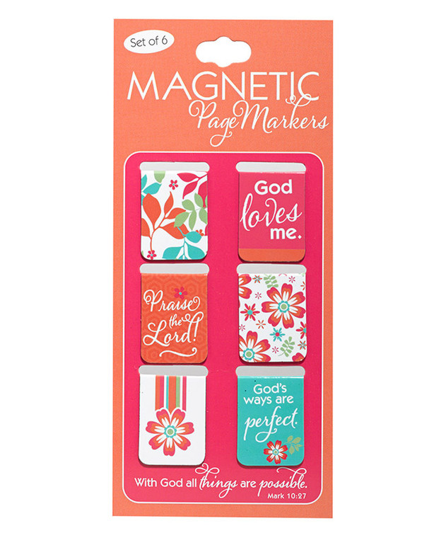 """With God All Things Are Possible"" Magnetic Pagemarkers"