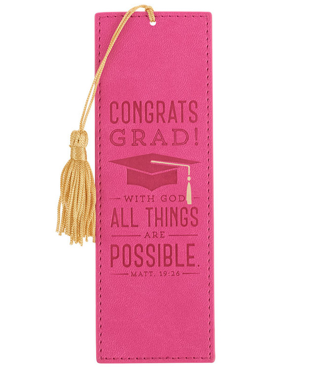 Congrats Grad! All Things Are Possible Bookmark