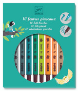 Djeco Felt Tip Brush Pens ~ Nature Colour Set