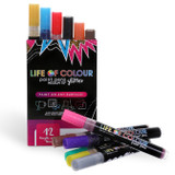 Life of Colour Paint Pens ~ Glitter Colours  3mm Medium Tip