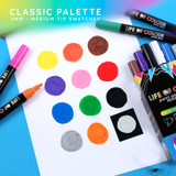 Life of Colour Paint Pens ~ Classic Colours (3mm Medium Tip)