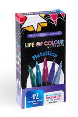 Life of Colour Paint Pens - Metallic Colours 1mm Fine Tip