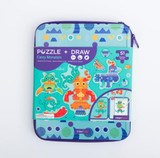 Puzzle & Draw Magnetic Kit Crazy Monsters
