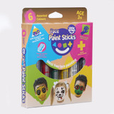 Little Brian Face Paint Sticks ~ Classic Colours 6 Pack