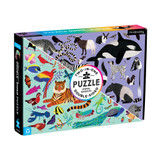 100 Piece Double Sided Puzzle ~ Animal Kingdom  mudpuppy