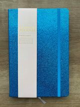 A5 Glitter Journal Bright Blue