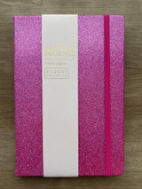 A5 Glitter Journal ~ Bright Pink