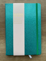 A5 Glitter Journal Turquoise