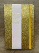 A5 Glitter Journal ~ Gold