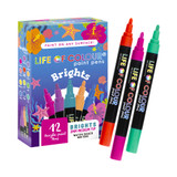 Life of Colour Paint Pens - Brights Colours (3mm Medium Tip)