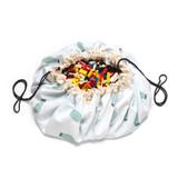 Play & Go Toy Storage Bag Playmat ~ Train Map Bears