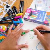 Life of Colour Paint Pens - Brights Colours (1mm Fine Tip)