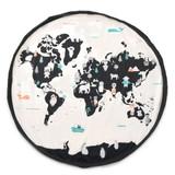 Play & Go Toy Storage Bag Playmat ~ World Map & Stars
