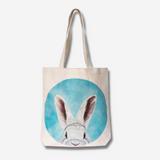 Hemp Tote Bag ~ White Rabbit Design