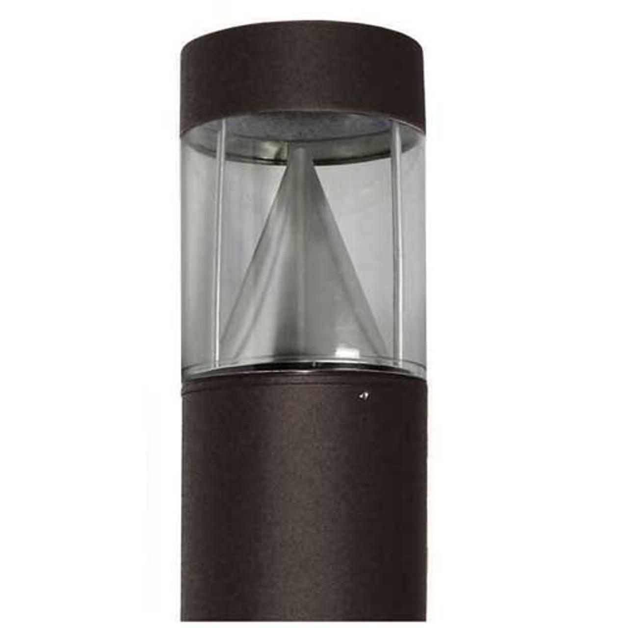 15 Watt LED Lighting Bollard Flat Top Cone Reflector