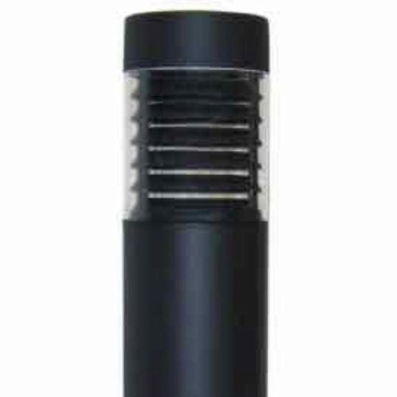 "15 Watt LED 7"" Round Bollard Flat Top and Louver Reflector"