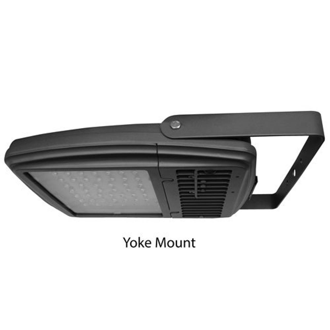 112 Watt Amber LED Floodlight Light With Yoke Mount