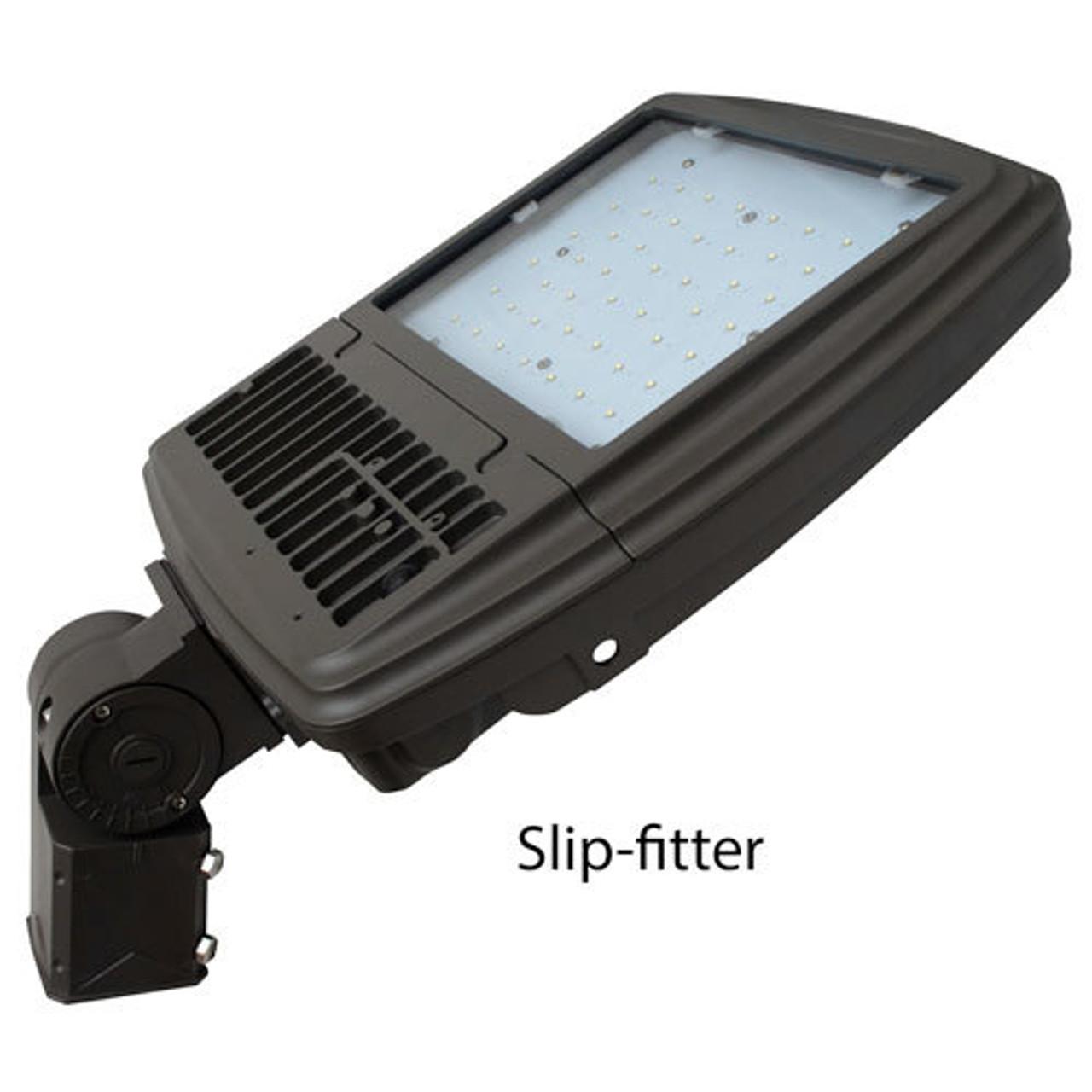 112 Watt Amber LED Floodlight Light With Slipfitter