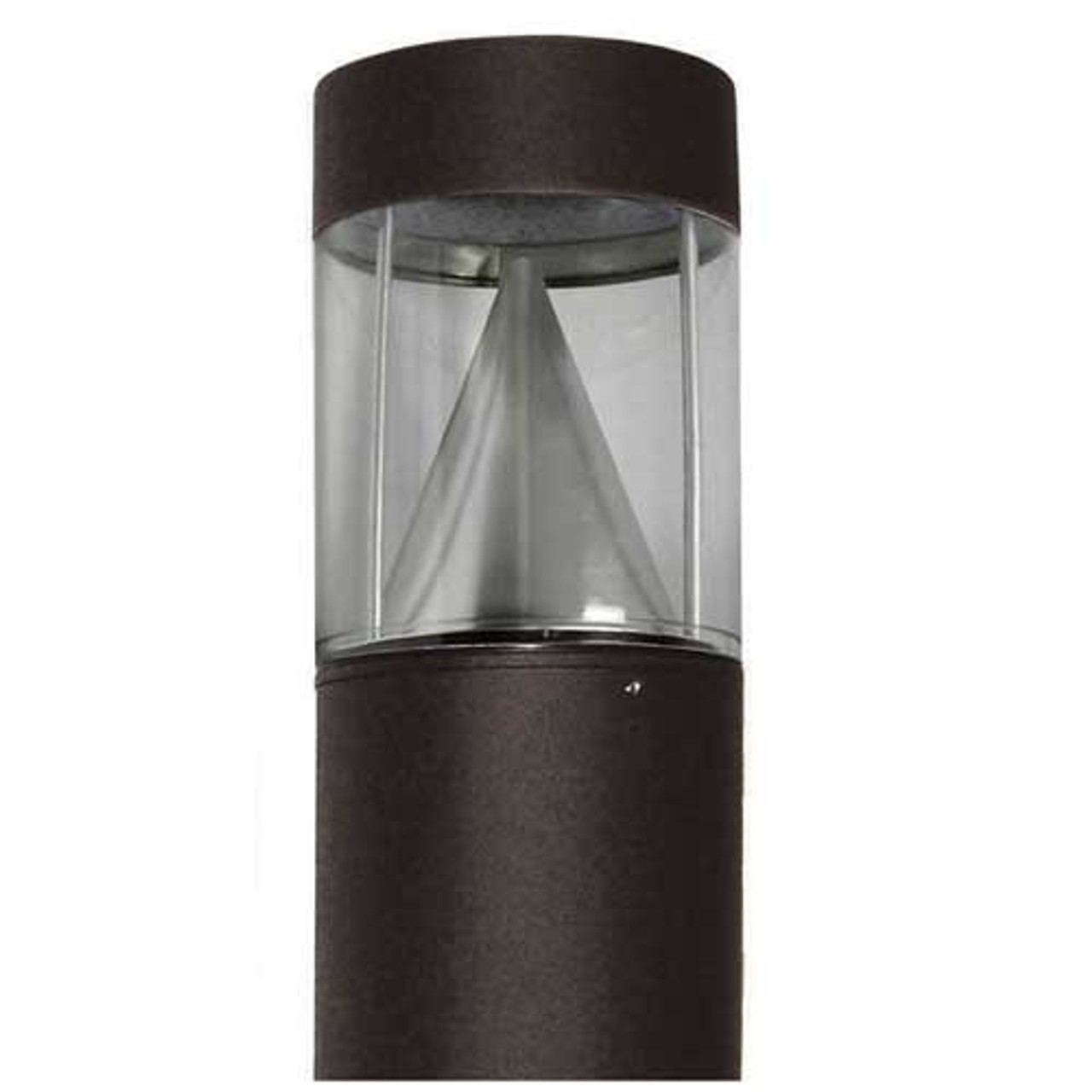 15 Watt Amber LED Lighting Bollard Flat Top Cone Reflector