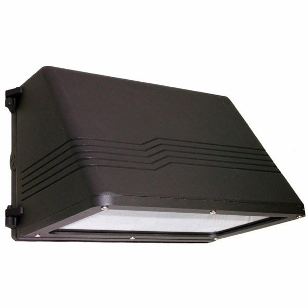 37 watt led medium full cutoff wall pack with battery back up