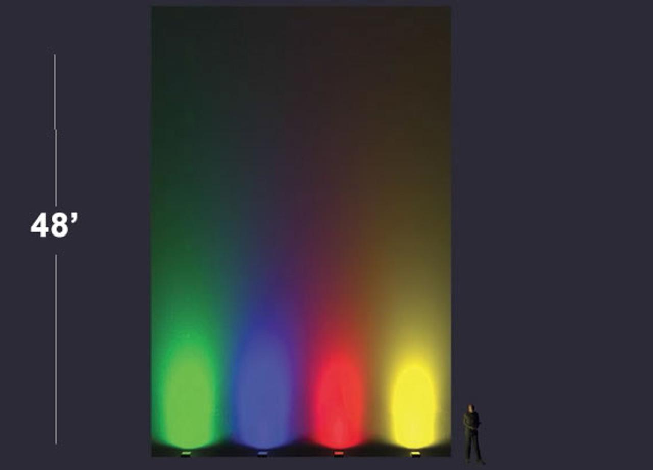 78 Watt Colored LED Area Light 30 deg Beam