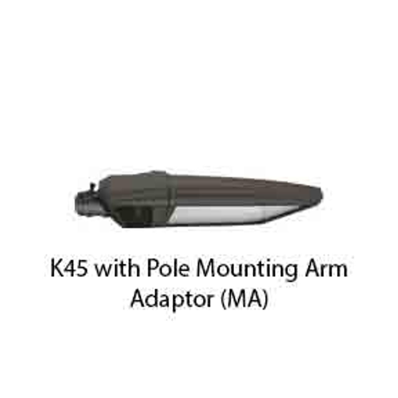 K45 with Pole Mounting Arm Adaptor (MA)