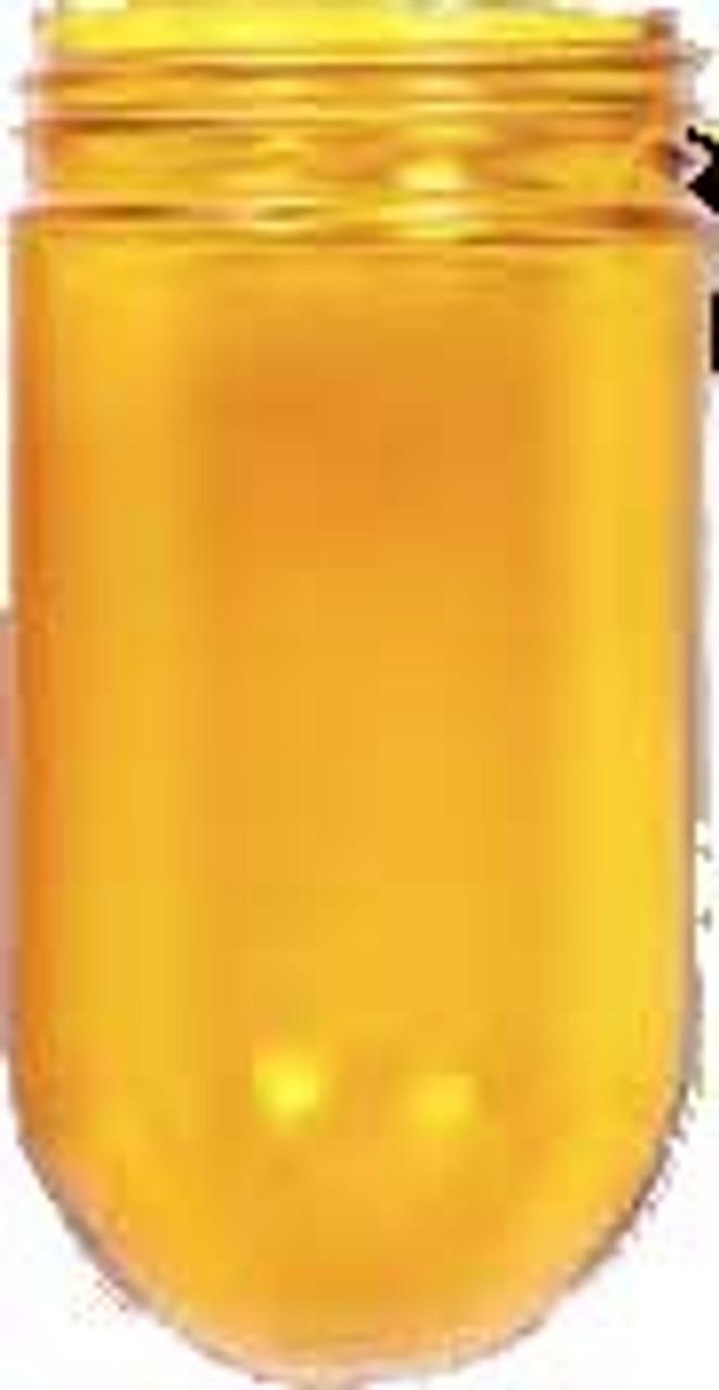 Yellow Mason Jar Glass