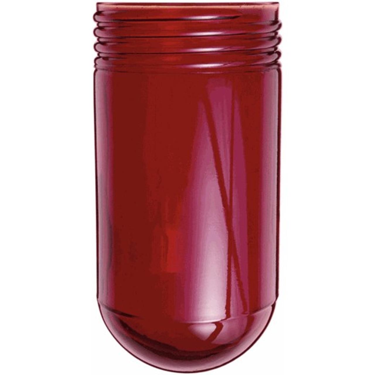Red mason jar glass
