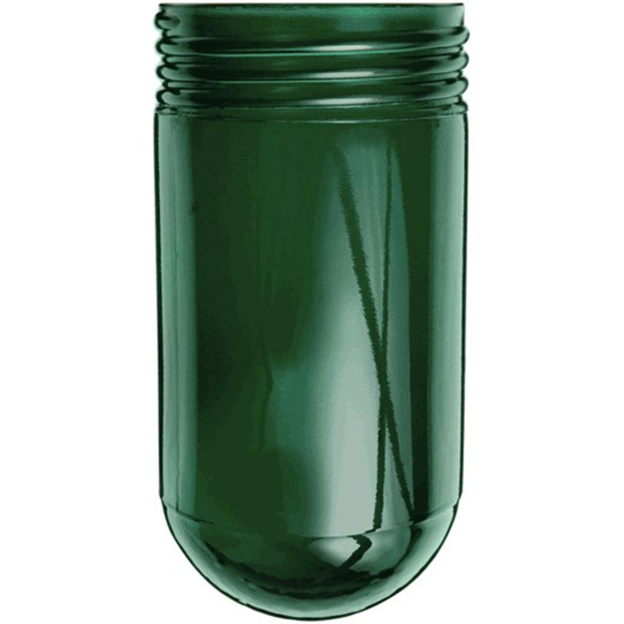 Green mason jar glass