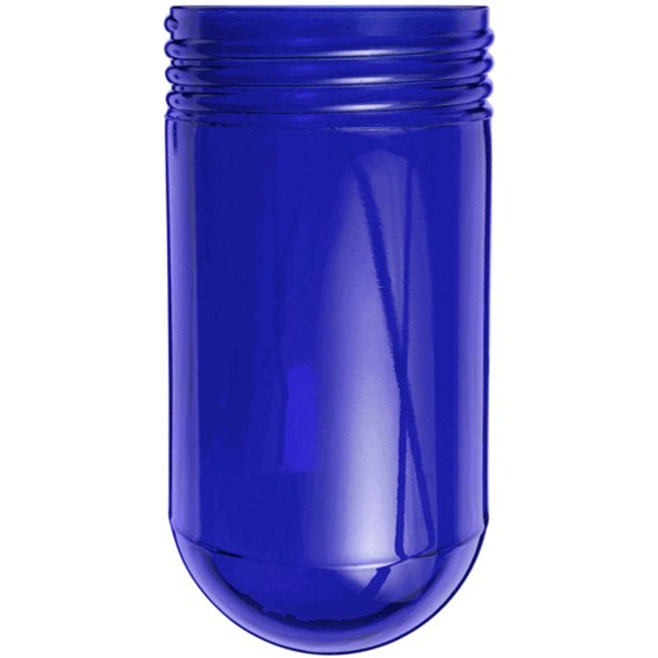 Blue mason jar glass