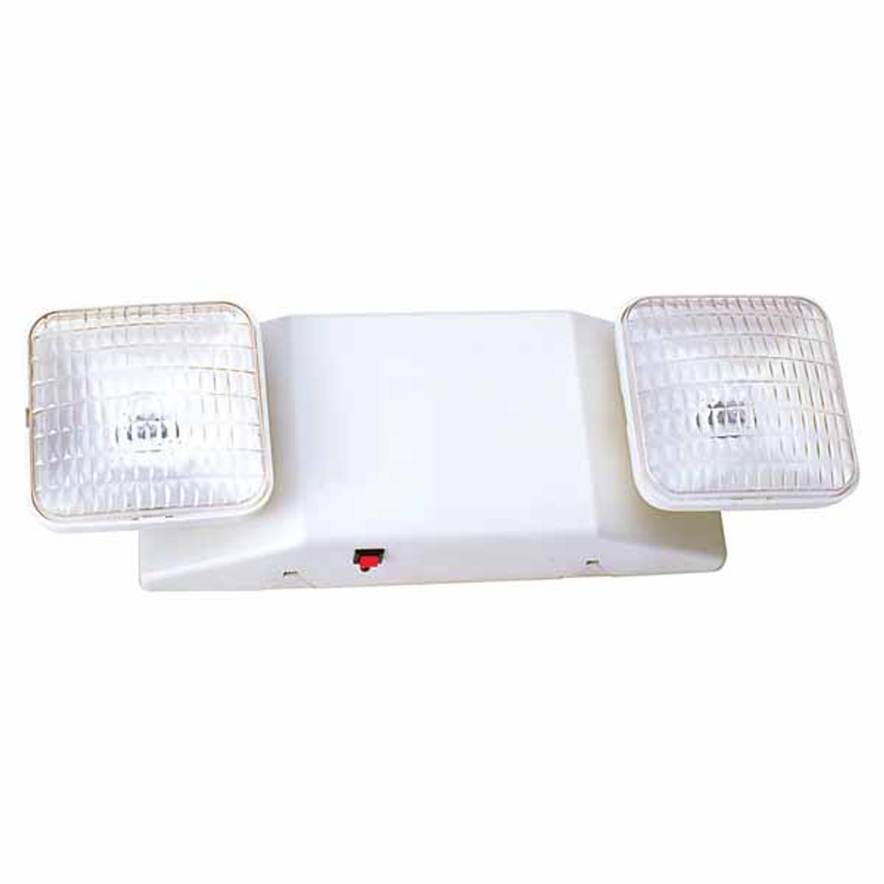 2 Head Adjustable White Emergency Light with Battery Backup