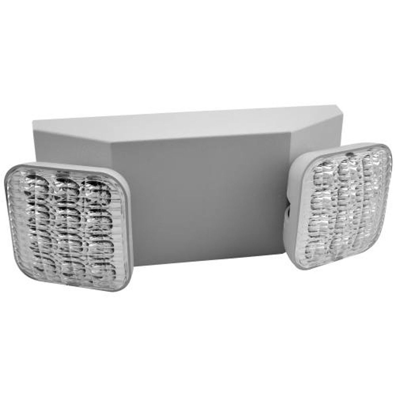 2 Head White Emergency Light with Battery Backup