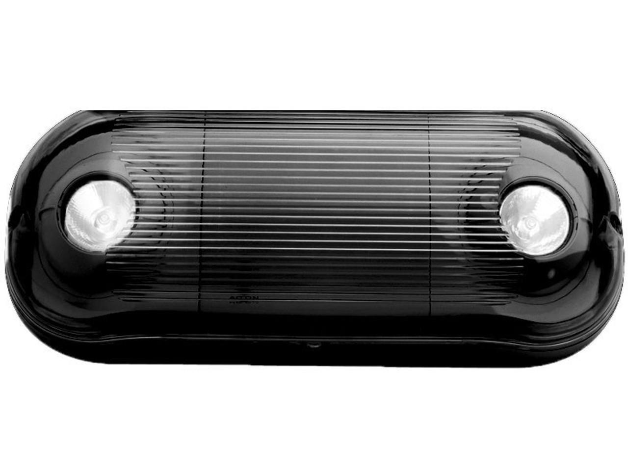 Weather Proof Emergency Light Halogen MR-16 Heads Black