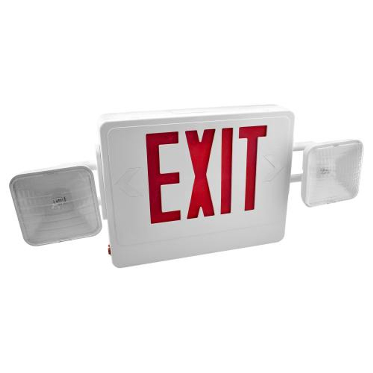 Combo LED Exit/Emergency Light Red Letters