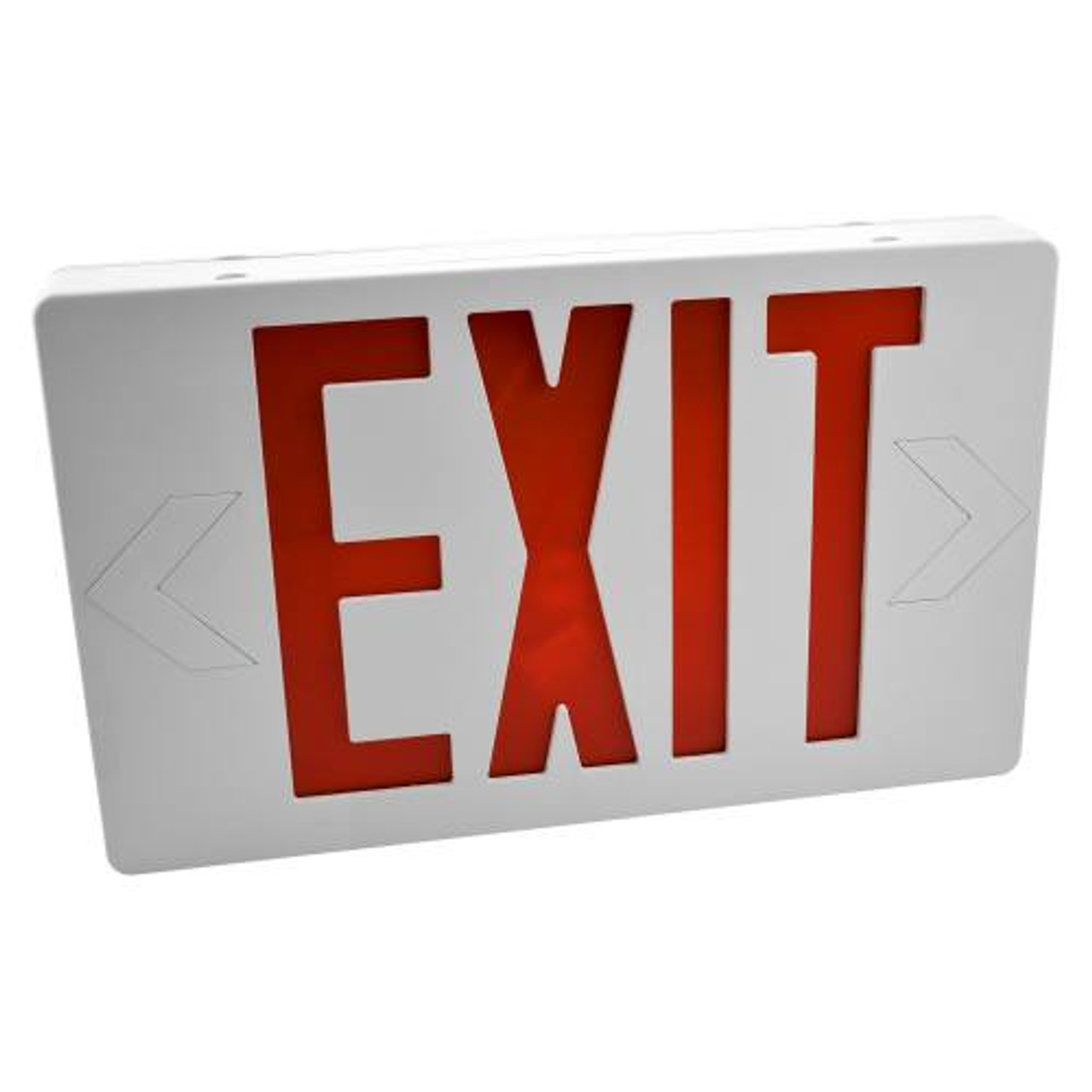 LED Exit Sign Red Letters with Battery Backup