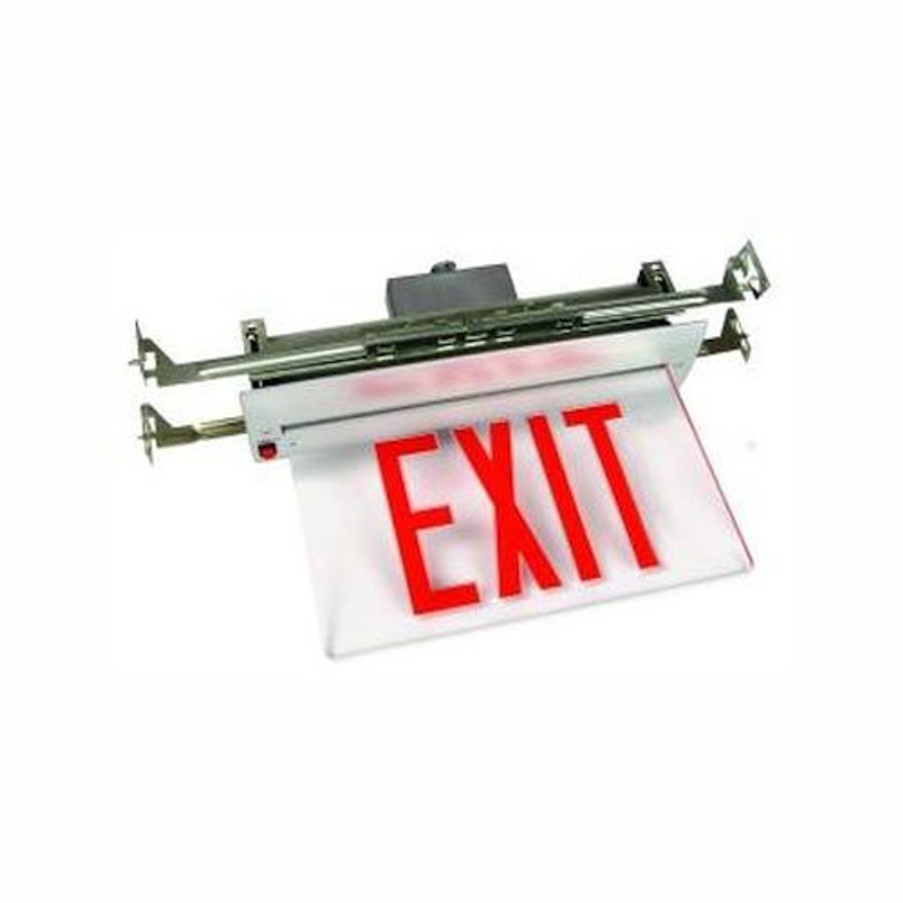 New York City Approved Surface Edge-Lit Recessed Exit Sign Light