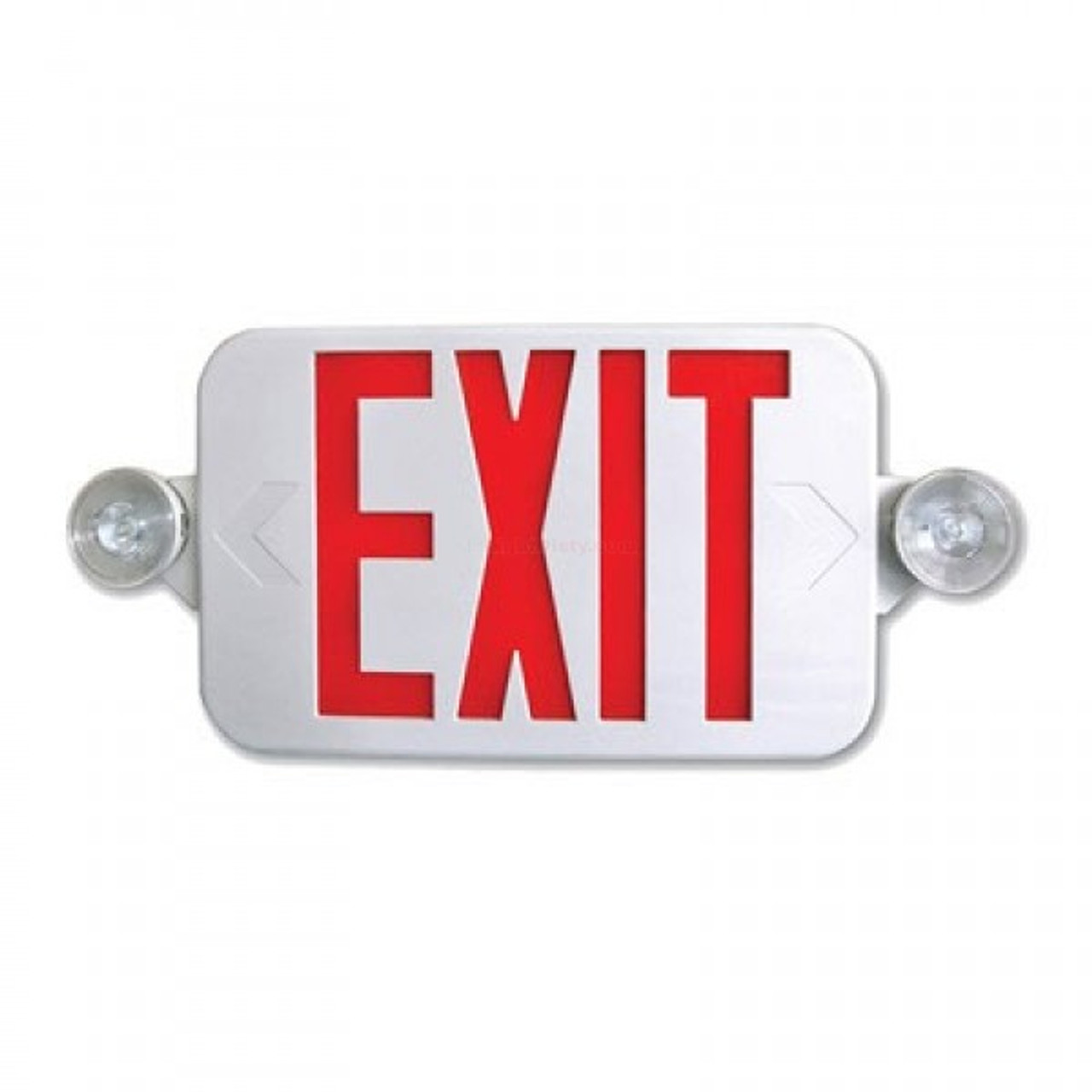 Mini Combo Exit Emergency Adjustable Heads Red Letters