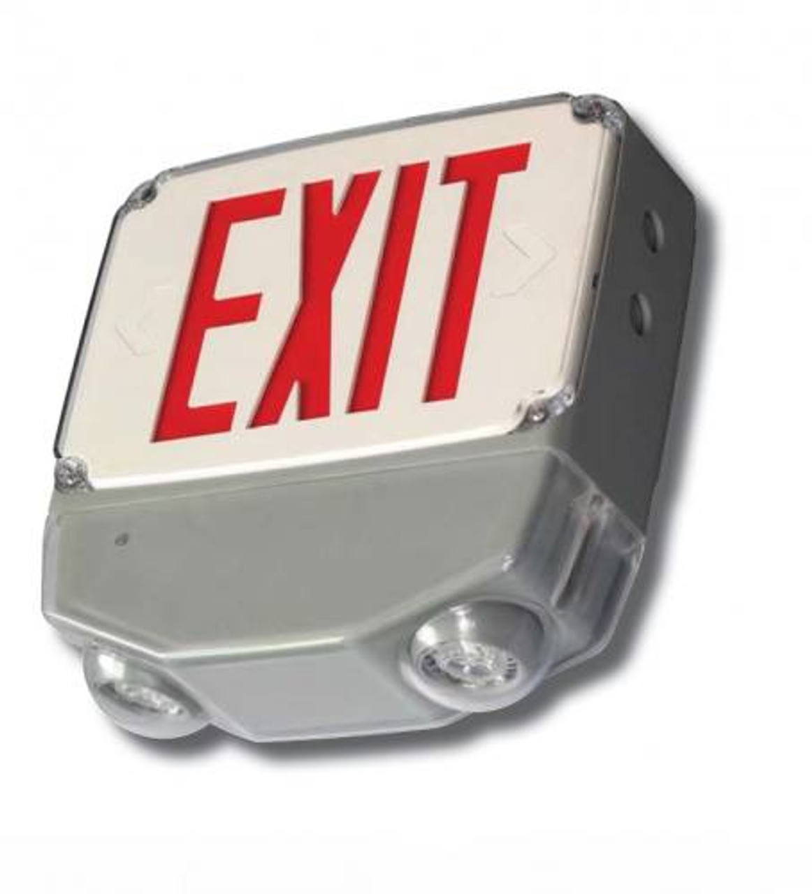 Wet Location LED Exit & Emergency Combo Red Letters