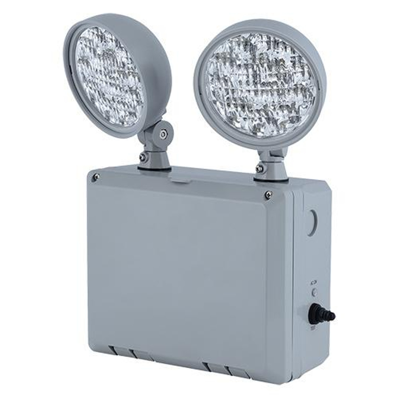 Wet Location Remote Capable LED Emergency Unit Gray