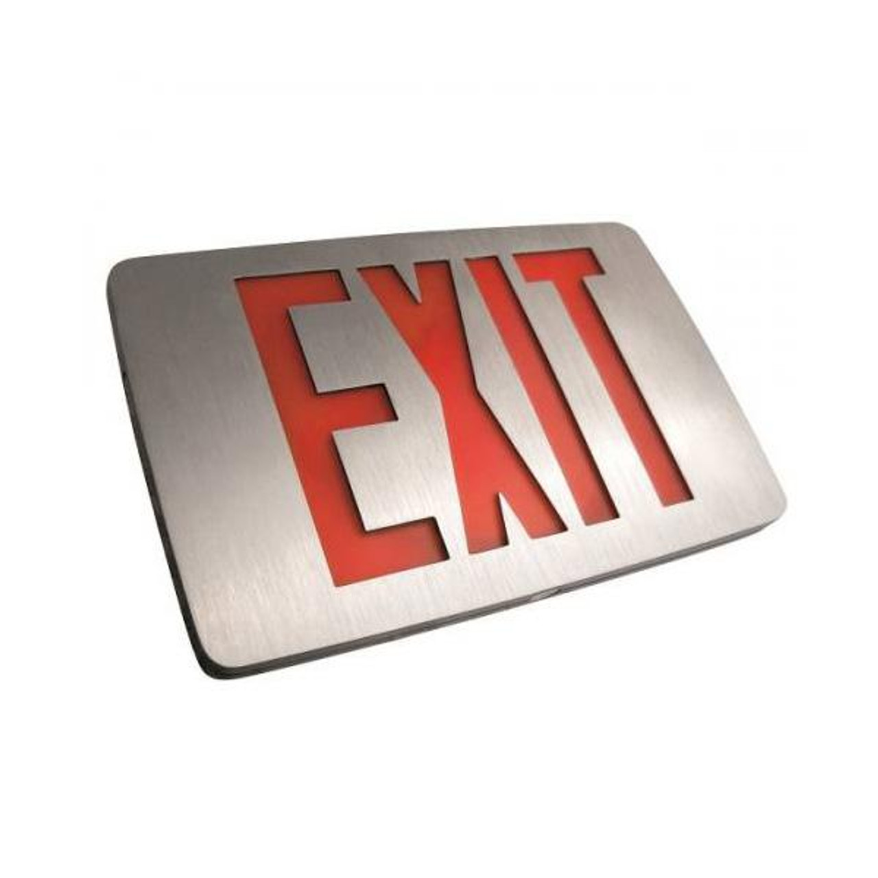 Thin Die-Cast LED Exit Sign red letters