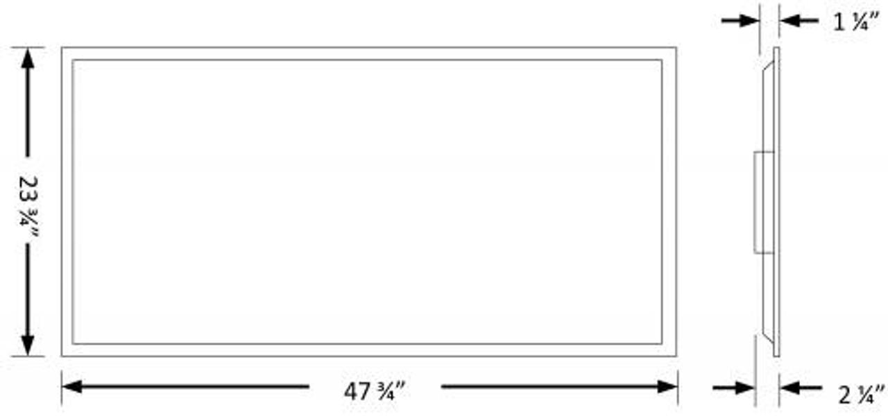 2x4 Premium Back-Lit LED Panel Dimensions