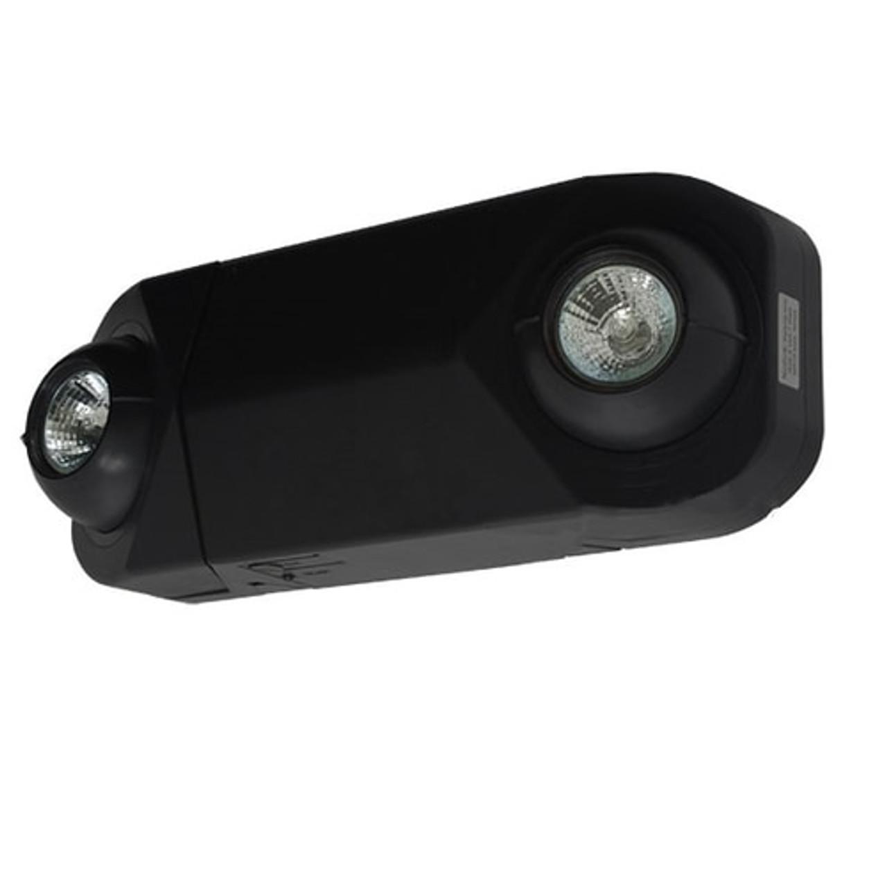 2 Head MR-16 Low Profile Halogen White Emergency Light Black