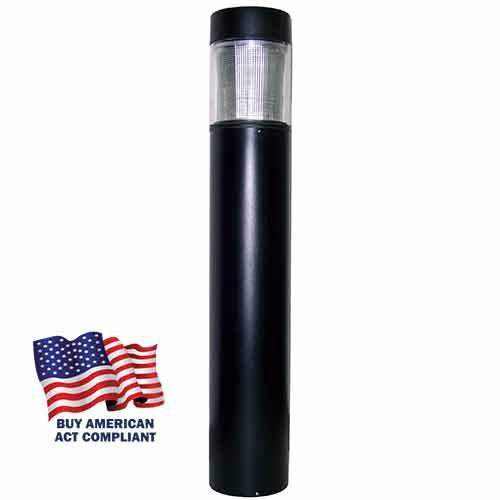 """15 Watt LED 7"""" Round Bollard Flat Top and Type 3 Buy America Act"""