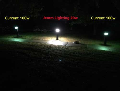 Compare 20 Watt LED to 100 Watt MH