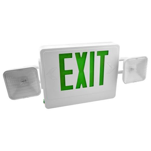 Combo LED Exit/Emergency Light Green Letters