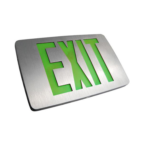 Thin Die-Cast LED Exit Sign green letters
