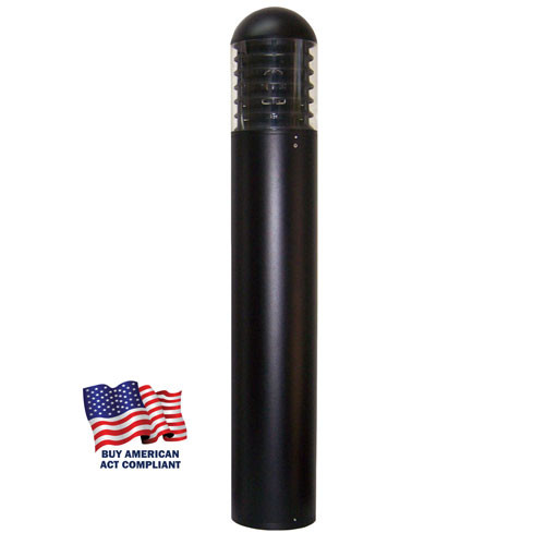 """Wildlife Friendly LED 7"""" Round Bollard Light DomeTop and Louver"""